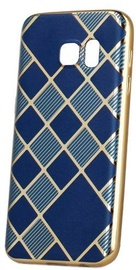 Mocco Geometric Plating Back Case For Samsung Galaxy S6 Blue/Gold