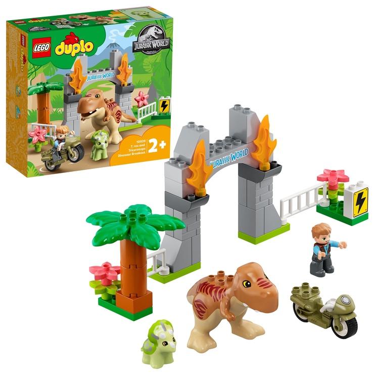 Конструктор LEGO Duplo Jurrasic World Побег динозавров: тираннозавр и трицератопс 10939, 26 шт.