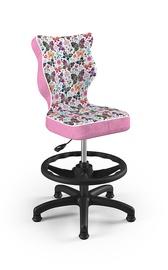 Детский стул Entelo Petit ST31, черный/розовый, 370x350x950 мм