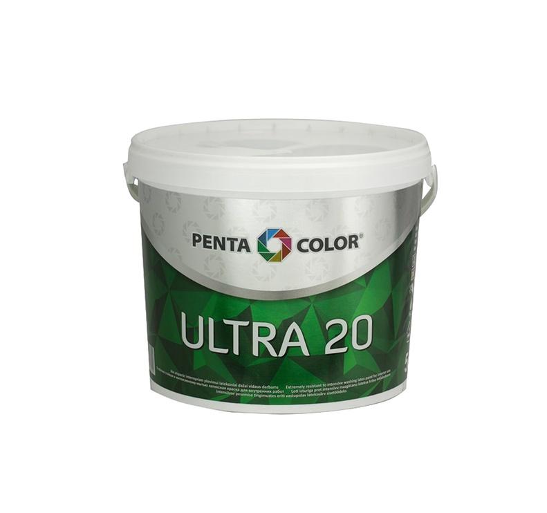 Krāsa dispersijas ultra 20 balta 3 l (Pentacolor )