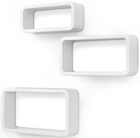 Songmics Cubes Shelf White 3pcs
