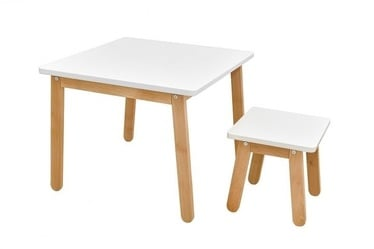 Bellamy Woody Table And Stool White