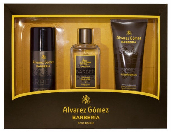 Набор для мужчин Alvarez Gomez Agua de Colonia Concentrada Barberia 3pcs Set EDP 530 ml