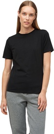 Audimas Womens Stretch Cotton T-shirt Black L