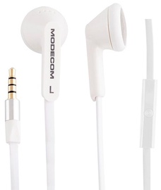 Ausinės Modecom Mc-131 Earphones w/Mic White