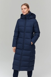 Audimas Long Puffer Down Coat Navy Blazer XS