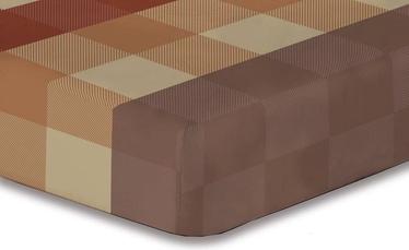 Palags DecoKing Hypnosis, brūna/smilškrāsas, 200x220 cm, ar gumiju