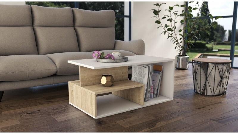 Kavos staliukas Top E Shop Prima, ąžuolo, 900x510x430 mm