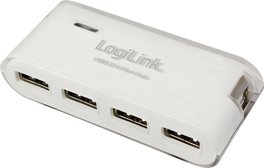 USB-разветвитель (USB-hub) LogiLink USB 2.0 Hub 4-Port w/Power Supply White