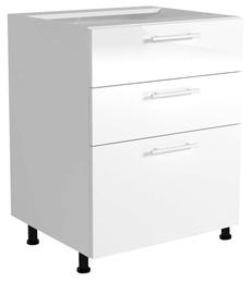 Virtuvinė spintelė Vento D3S-60/82, balta / pilka