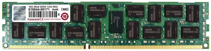 Transcend 16GB DDR3 1333MHz CL9 ECC TS2GKR72V3H
