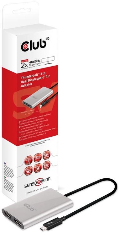 Club 3D SenseVision Thunderbolt3 To Dual Displayport1.2 Adapter