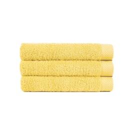 Vonios rankšluostis Lasa, geltonas, 50 x 100 cm