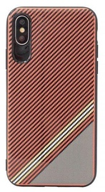 Mocco Trendy Grid And Stripes Pattern 1 Back Case For Samsung Galaxy S8 Plus Red