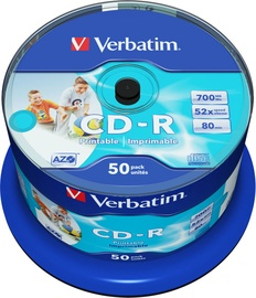 Накопитель данных Verbatim 50x 700MB CD-R 52x 43438