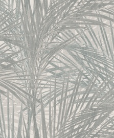 Tapetas flizelino pagrindu BN 218744 Zen, pilkas su palmių lapais