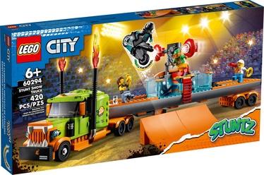 Konstruktors LEGO City Kaskadieru šova kravas auto 60294, 420 gab.