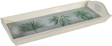Home4you Serving Tray Palm Leaf 83796 52x19cm White