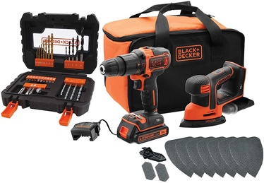 Black & Decker BCK23S1SA41 Combo Kit 18V 1.5Ah