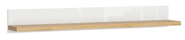 Black Red White Erla POL Shelf 158cm White/Minerva Oak