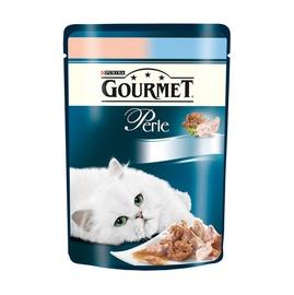 Konservuotas ėdalas suaugusioms katėms Gourmet Perle, su lašiša, 85 gr