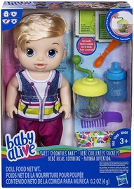 Hasbro Baby Alive Sweet Spoonfuls Blonde Baby Doll Boy E0635