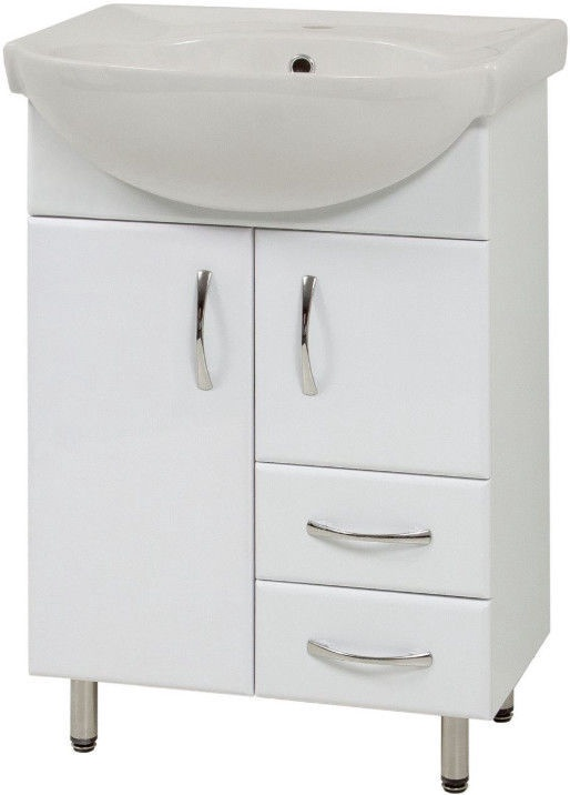 Шкаф для ванной Sanservis SL-56 with Basin White 56.5x85x44.5cm
