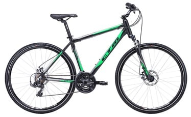 "Dviratis CTM Twister 2.0 21"" 28"" Black Green 19"