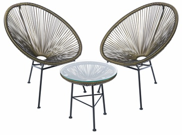 Masterjero Mexico Garden Furniture Set Brown