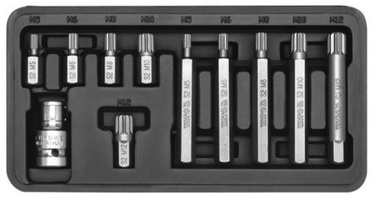 Yato YT-0415 Screwdriver Bit Set Spline 11pcs