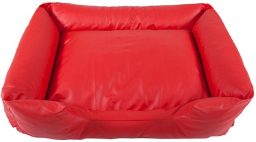 EU Dog Bed Leather Cushion 130cm Red