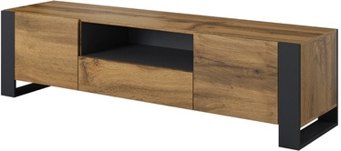 TV galds Cama Meble RTV Wood Wotan/Anthracite, 1800x440x480 mm