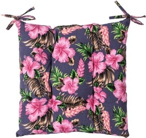 Home4you Summer Chair Pad 40x40cm Pink Flowers