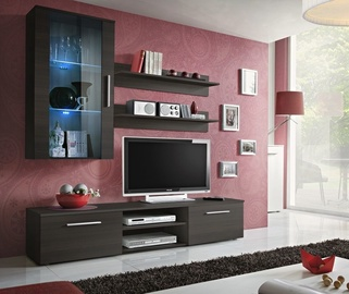 Dzīvojamās istabas mēbeļu komplekts ASM Galino E Wenge