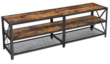 TV galds Songmics TV Stand, brūna/melna, 1400 mm x 392 mm x 500 mm