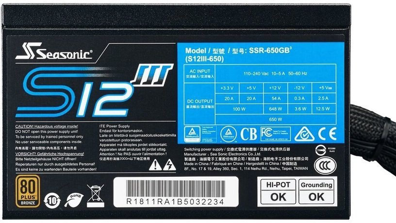Seasonic S12III PSU 550W