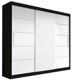 Idzczak Meble Wardrobe Alba II Black/White