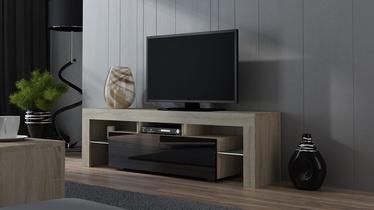 TV galds Pro Meble Milano 160 Sonoma Oak/Black, 1600x350x450 mm