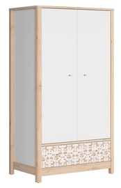 Black Red White Timon Wardrobe White/Beech