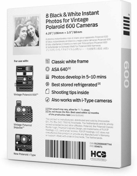 Polaroid B&W 600 Film