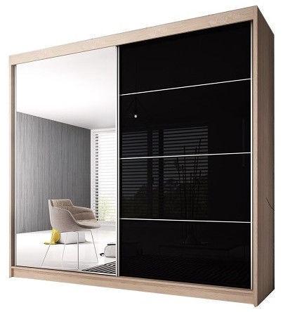 Idzczak Meble Wardrobe Multi 31 183 Sonoma Oak/Black