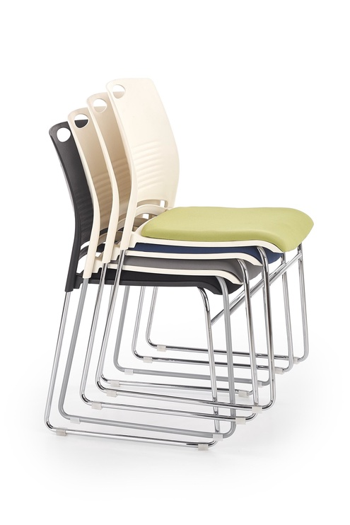 Apmeklētāju krēsls Halmar Cali White/Blue