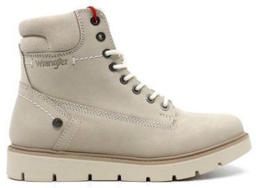 Wrangler Tucson Lady Nubuck Fur Leather Winter Boots Cream Light Brown 39