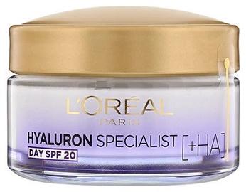 Näokreem L´Oreal Paris Hyaluron Specialist Day Cream SPF20, 50 ml