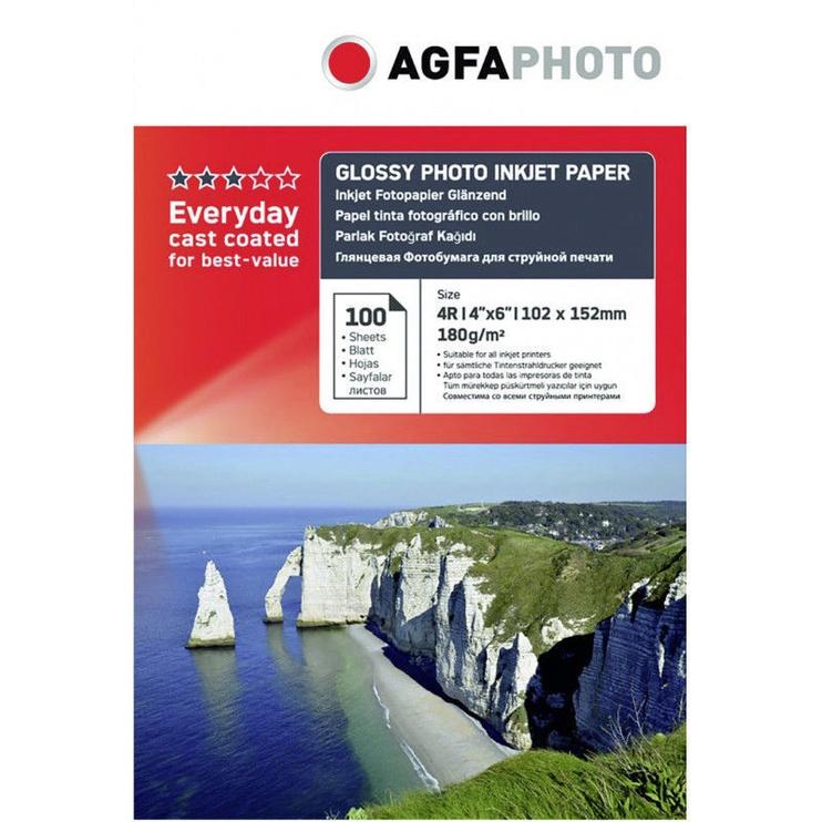 Fotopaber AgfaPhoto Premium Glossy Photo Inkjet Paper A6 180g 100pcs