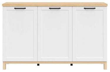Black Red White Haga Cabinet 151x95cm White