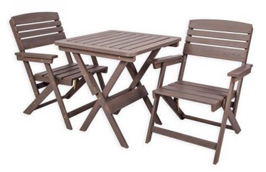 Folkland Timber Folding Garden Set Heini 2 Graphite