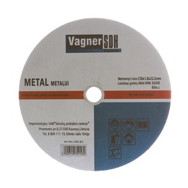Pjovimo diskas Vagner SDH, 230 x 1.8 x 22.23 mm