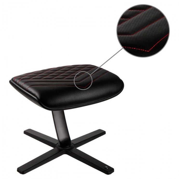 Noblechairs Footrest PU Leather Black/Red
