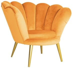 Signal Meble Magnolia Velvet Armchair Curry/Gold